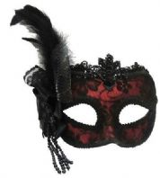 Red Burlesque Mask